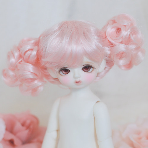 "[6-7""] Bonbon twintails (Peach Pink)"