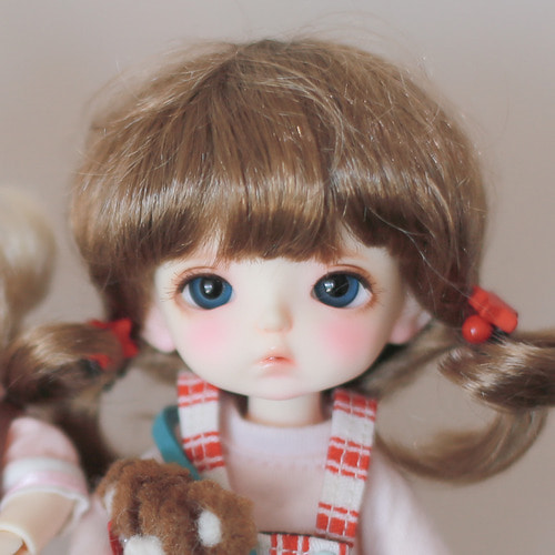 "[5-6""] Baby twintails (Brown)"