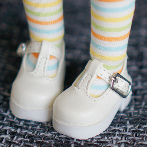 [Bebe/幼SD] T-strap Maryjane (white)