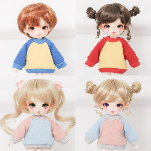 [Chibi/Pocket] Raglan Sweat Shirt 4 Color