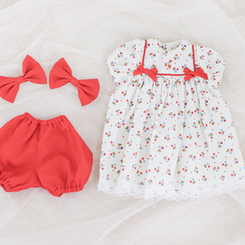 [Enfant] Babydoll Onepiece (Red)