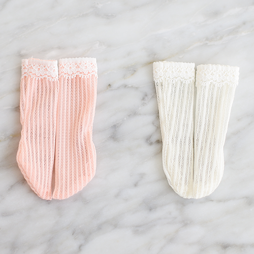 [Bebe] Stripe Lace Stocking