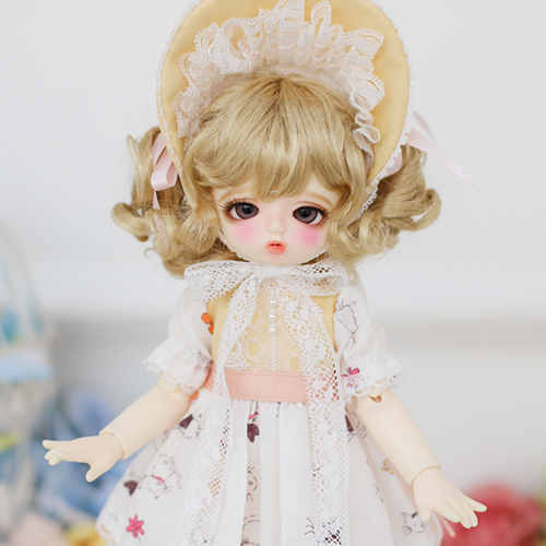 [Bebe] Fluffy Dress (Yellow)