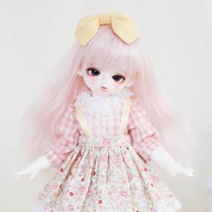 [Bebe] Cutie Overall Skirt (Pink+Yellow)