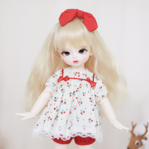 [Bebe] Babydoll Onepiece (Red)