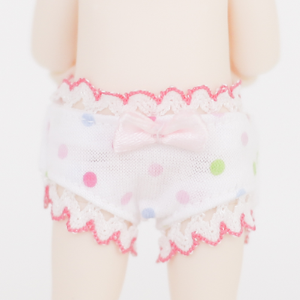 [Chibi/Pocket] White Dot Panties