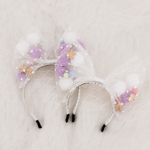 [Bebe/Enfant] White Dot Hairband