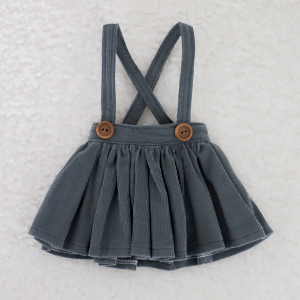 [Enfant] Corduroy Skirt (Green Gray)