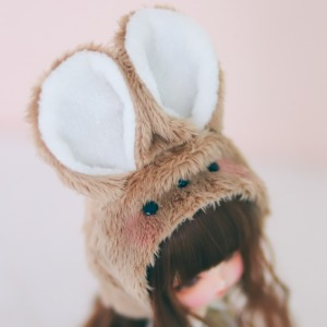 [USD/MSD] Rabbit Hat (Brown)