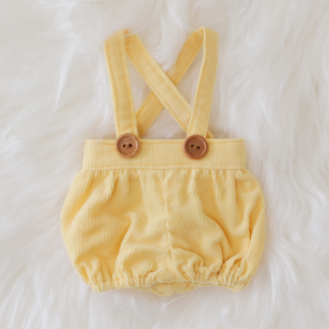 [Bebe] Corduroy bloomer (Lemon)