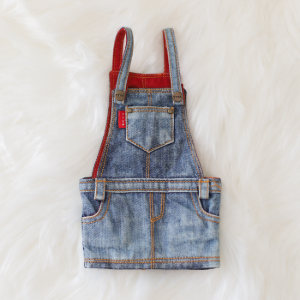 [Enfant] Washing Overall Skirts (Blue)