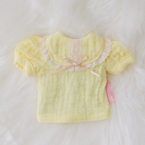 [Bebe] Bib Collar Blouse (Lemon)