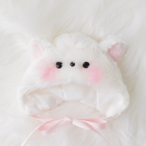 [Chibi/Pocket] Cat Hat (White)