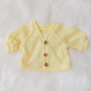 [Bebe] Puff Sleeve Cardigan (Lemon)