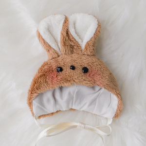 [Chibi/Pocket] Rabbit Hat (Brown)