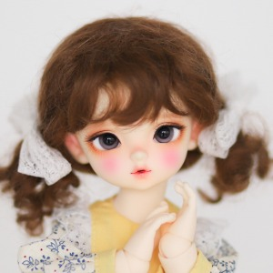 "[6-7""] Bonbon twintails (Mohair)Blond / Ash / Brown / Carrot"