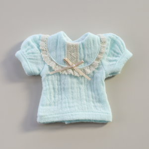 [Bebe] Bib Collar Blouse (Sky Blue)