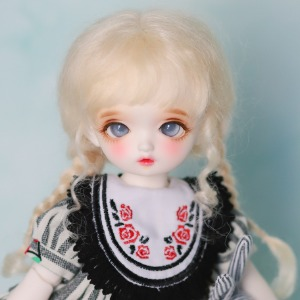 "[5-6""] Anna twintails (Mohair)Blond / Ash / Carrot / Pink"