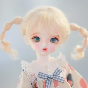 "[5-6""] Pipi twintails (Mohair)Blond"
